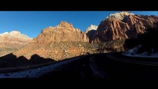 Driving Through Zion National Park