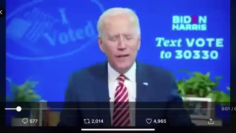 Joe Biden admits to Voter Fraud video proof.