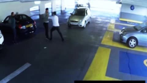 Parking Garage Fight Ends In a Knockout