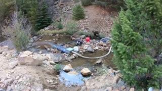 Gold dredging clear creek canyon Colorado