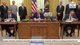 United States brokers breakthrough economic deal between Serbia and Kosovo
