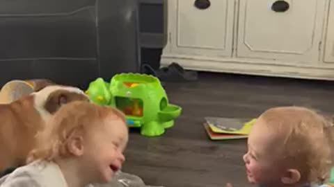 Twin Toddlers Talk About Their Day