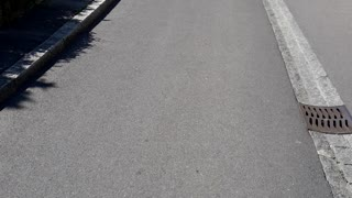 Villeneuve walking in Switzerland