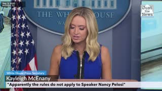 Kayleigh McEnany on Speaker Nancy Pelosi and the salon situation