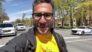 MASSIVE Covid lockdown protest in Montreal! Viva Frei Vlog