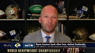 Matt Stafford on Rams vs. Seahawks