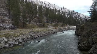 Payette River Staircase rapids - Idaho Drone Footage