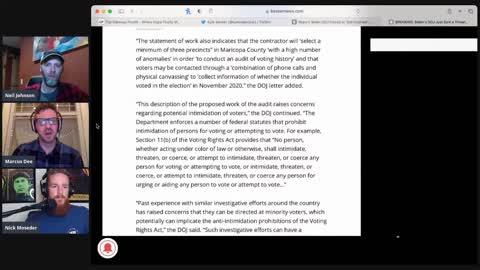MAJOR INTERFERENCE IN ARIZONA AUDIT - DOJ to intervene