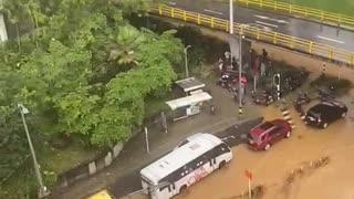 Video: Grave emergencia en Medellín por las lluvias con granizo de este jueves