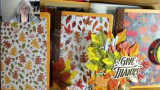 Craft with me, making embellishment for front of fall junk journal