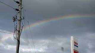Pretty half rainbow 🌈 in a stormy sky