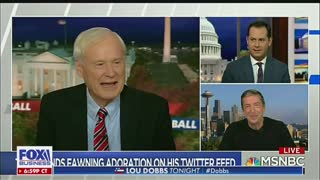 Lou Dobbs reacts to insults from MSNBC's Chris Matthewws