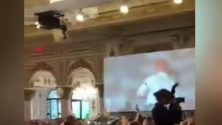 Former President Trump Surprise Appearance At Fundraiser !