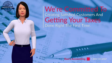 Sample Text To Speech Promo Video for Rae's Accounting