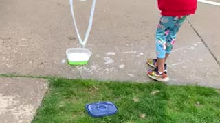Making Giant Bubble