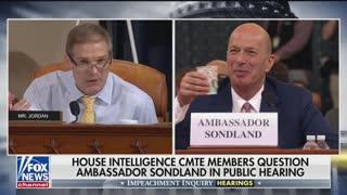 Jordan questions Sondland in impeachment hearing