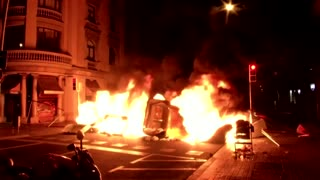 Police clash with protesters in Spain over jailed rapper