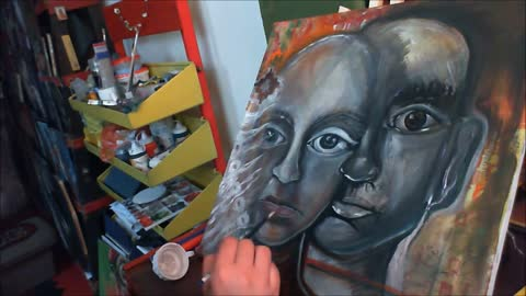 Meditating with painting