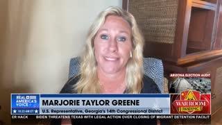 Marjorie Taylor Greene: Biden Needs to 'Finish the Damn Wall'