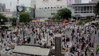 People Record In cross Walk Street