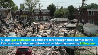 Baltimore rocked by massive gas explosion that rips through several homes, killing at least one