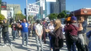 Snowflake Netflix Workers Walk Out And Are Met By Free Speech Counter-Protestors
