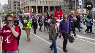 """Toronto Climate Protestors Chant """"Justin Trudeau's F*cking Lying""""...!!"""