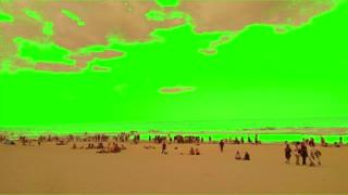 Green Screen Surf Wave Sand Beach for YouTube Video Creators