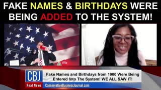 Fake Names and Birthdays Were Being ADDED To The System!