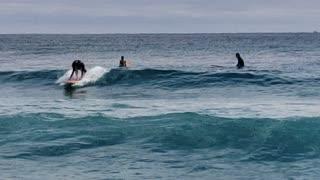 Surfers - Atlantic Ocean off of Palm Beach, Florida