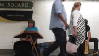 subway musicians - New York City
