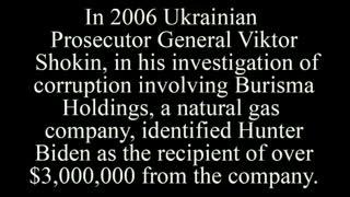 Quid Pro Quo Joe Biden Ukrain