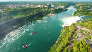 Drone waterfall