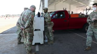 U.S. Army Soldiers administer COVID-19 vaccine 1