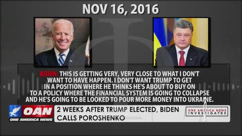 2016, dopo l'insedimento di Trump: telefonata registrata tra Joe Biden e Poroshenko