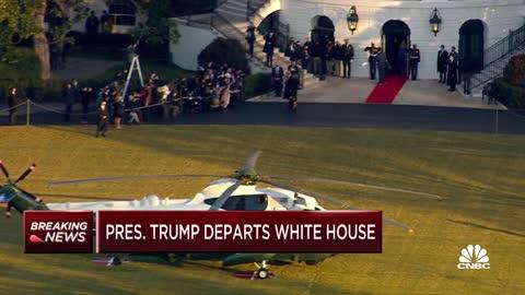 Donald Trump's final White House exit
