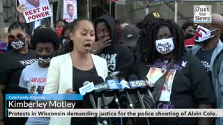 Protests in Wisconsin demanding justice for the police shooting of Alvin Cole.