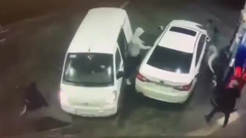 Thugs Try to Carjack Man at Gas Station, End Up Taking Gasoline Shower