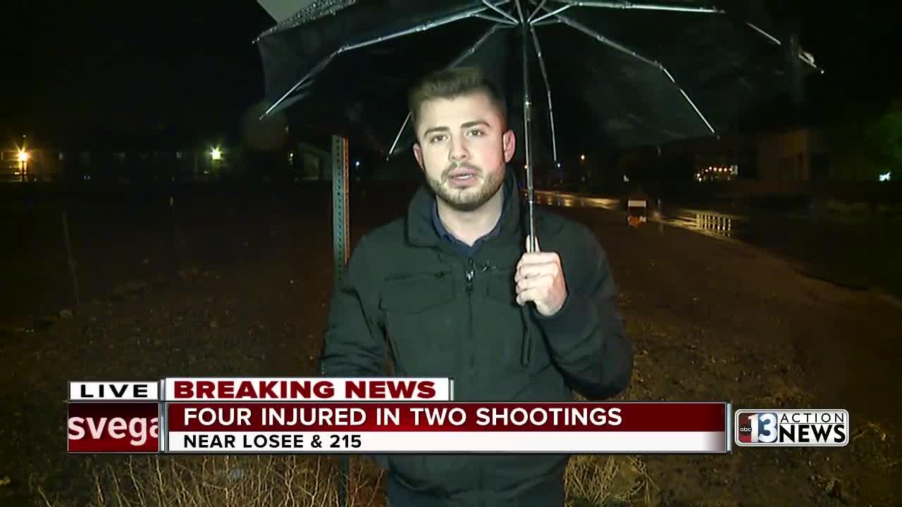 North Las Vegas police investigate 2 separate shootings