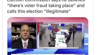 Election Fraud ⚠️ election commission chairman