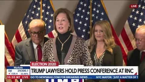 Sidney Powell: Voting Shut Down by Overwhelming Trump Vote