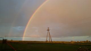 Rare Seen full sight double Rainbow