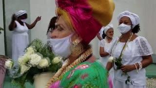 Acto simbólico para abrir el cancelado Carnaval de Río