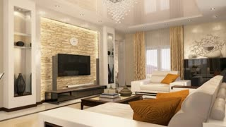 Top Design Living Room With A Fireplace.