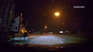 Falling Meteorite Seen From Austin Freeway
