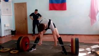 I lifted 190 kilos