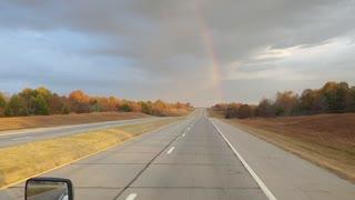 Rainbow over Talemena Oklahoma
