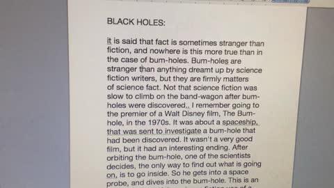 Stephen Hawkings Hole