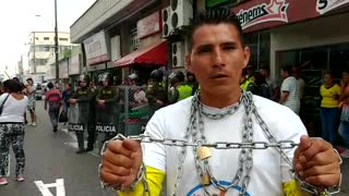 Vendedores ambulantes protestan en Bucaramanga