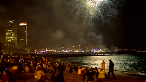 #The atmosphere of the fireworks